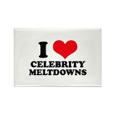 I Love (Heart) Celebrity Melt Rectangle Magnet (10
