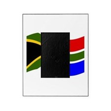 Waving South Africa Flag Picture Frame