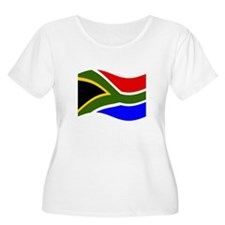 Waving South Africa Flag Plus Size T-Shirt