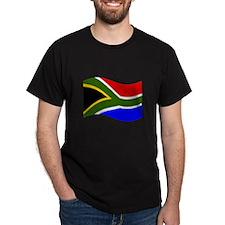 Waving South Africa Flag T-Shirt