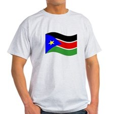 Waving South Sudan Flag T-Shirt