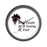 Wine Diet Wall Clock