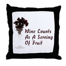 Wine Diet Throw Pillow