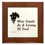 Wine Diet Framed Tile