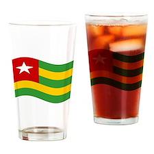 Waving Timor-Leste Flag Drinking Glass