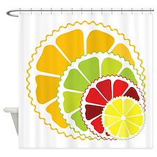 Four citrus fruits Shower Curtain