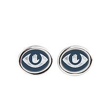 Stop Watching Us Eyecon Oval Cufflinks
