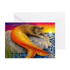Cat Mermaid 30 Greeting Card