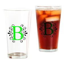 MONOGRAM B NEON BLACK Drinking Glass