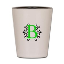 MONOGRAM B NEON BLACK Shot Glass