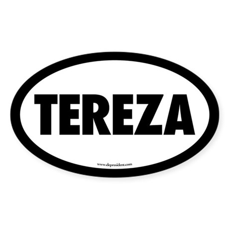 Tereza Oval Sticker