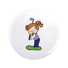 "Golfing Girl 3.5"" Button"