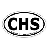 Charleston, South Carolina Oval Decal