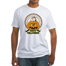Snoopy and Woodstock Pumpkin Fitted T-Shirt
