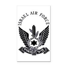 IAF Black Logo Rectangle Car Magnet