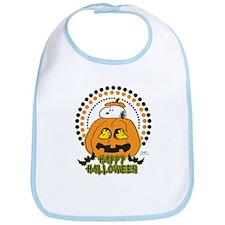 Snoopy and Woodstock Pumpkin Bib