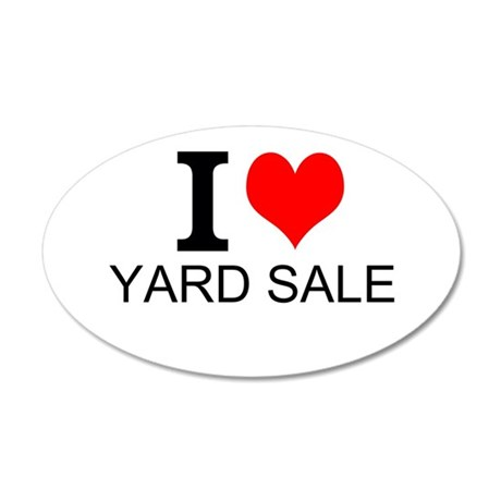 I Love Yard Sales Wall Decal