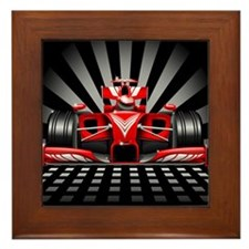 Formula 1 Red Race Car Framed Tile
