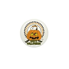 Snoopy and Woodstock Pumpkin Mini Button (10 pack)