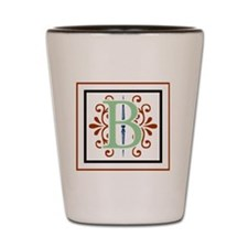 MONOGRAM B GREEN NAVY MAROON Shot Glass