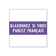 "Cute French Square Sticker 3"" x 3"""