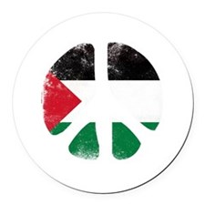 Peace for Palestine Round Car Magnet