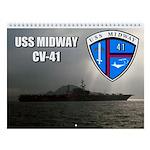 Uss Midway Cv-41 Wall Calendar