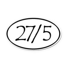 27/5 Derby Love Oval Car Magnet
