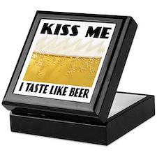 Kiss Me Beer Keepsake Box