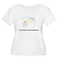 9 planets Plus Size T-Shirt