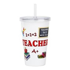 Teachers Do It With Acrylic Double-Wall Tumbler