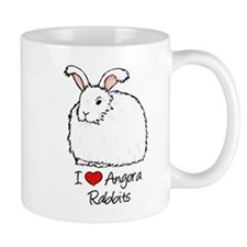 I Heart Angora Rabbits Mugs