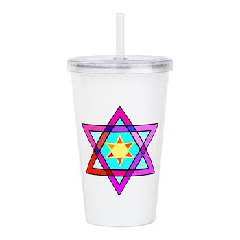 Jewish Star Of David Acrylic Double-wall Tumbler