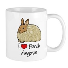 I Heart French Angora Mugs