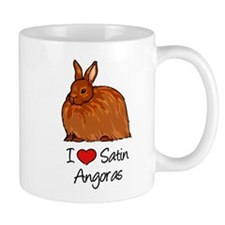 I Heart Satin Angoras Mugs