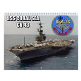 Uss coral sea Wall Calendars