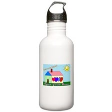 Funny Foster care Water Bottle