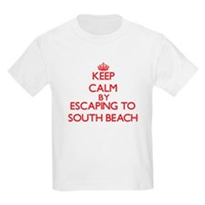 Keep calm by escaping to South Beach California T-