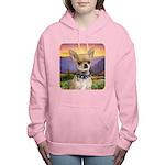 Chihuahua Meadow Women's Hooded Sweatshirt