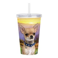 Chihuahua Meadow Acrylic Double-wall Tumbler