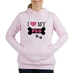 dogboneILOVEMY.png Women's Hooded Sweatshirt