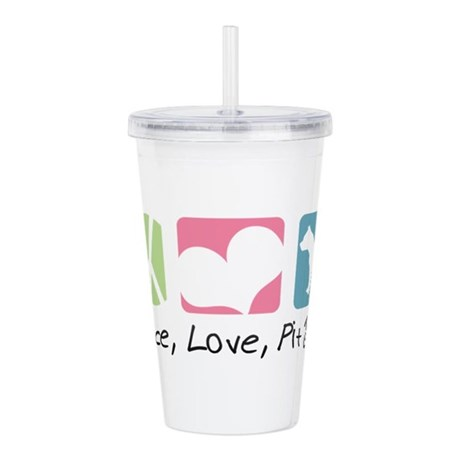 Peace, Love, Pit Bulls Double Wall Tumbler