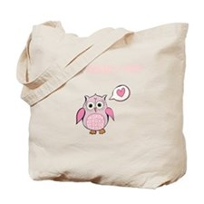 Custom Cartoon Pink Love Owl Tote Bag