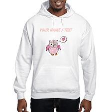 Custom Cartoon Pink Love Owl Hoodie