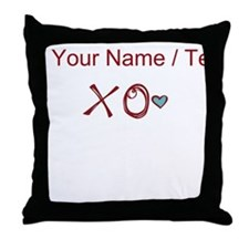 Custom XO Love Throw Pillow