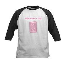 Custom Pink Heart Frame Baseball Jersey