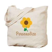 Personalizable Flower Tote Bag