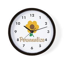 Personalizable Flower Wall Clock
