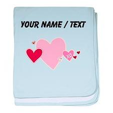 Custom Valentine Hearts baby blanket
