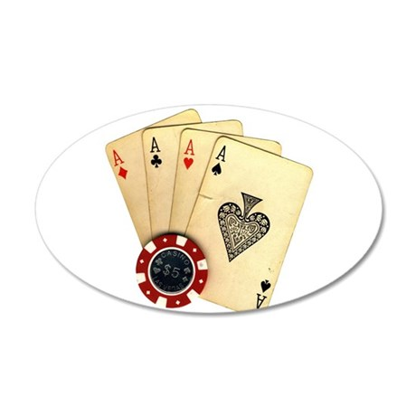 Poker - 4 Aces Wall Decal
